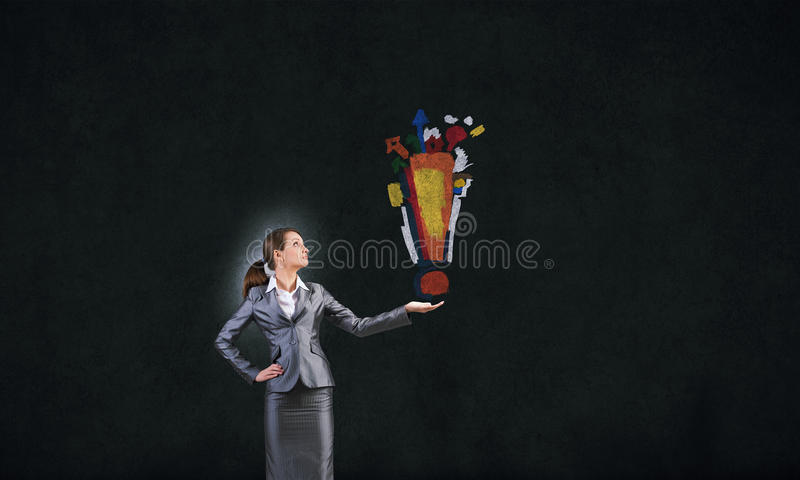 Download Marque d'exclamation image stock. Image du innovation - 56481637