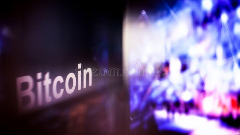 Marque de Bitcoin Cryptocurrency comportement des échanges de cryptocurrency, concept Technologies financières modernes image libre de droits