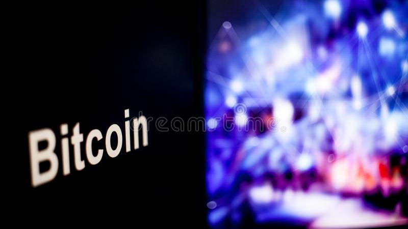 Marque de Bitcoin Cryptocurrency comportement des échanges de cryptocurrency, concept Technologies financières modernes photos stock