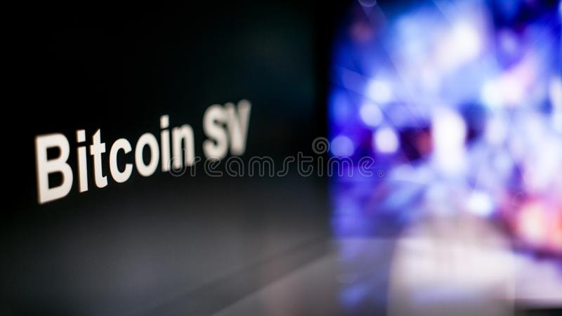 Marque de Bitcoin SV Cryptocurrency comportement des échanges de cryptocurrency, concept Technologies financières modernes image libre de droits