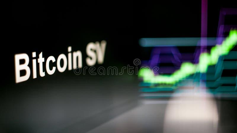 Marque de Bitcoin SV Cryptocurrency Le comportement des échanges de cryptocurrency, concept Technologies financières modernes photographie stock