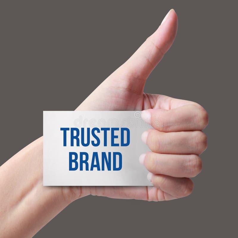 Marque de confiance photos stock