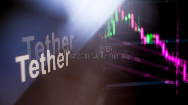Marque de Cryptocurrency de longe Le comportement des échanges de cryptocurrency, concept Technologies financières modernes photo stock