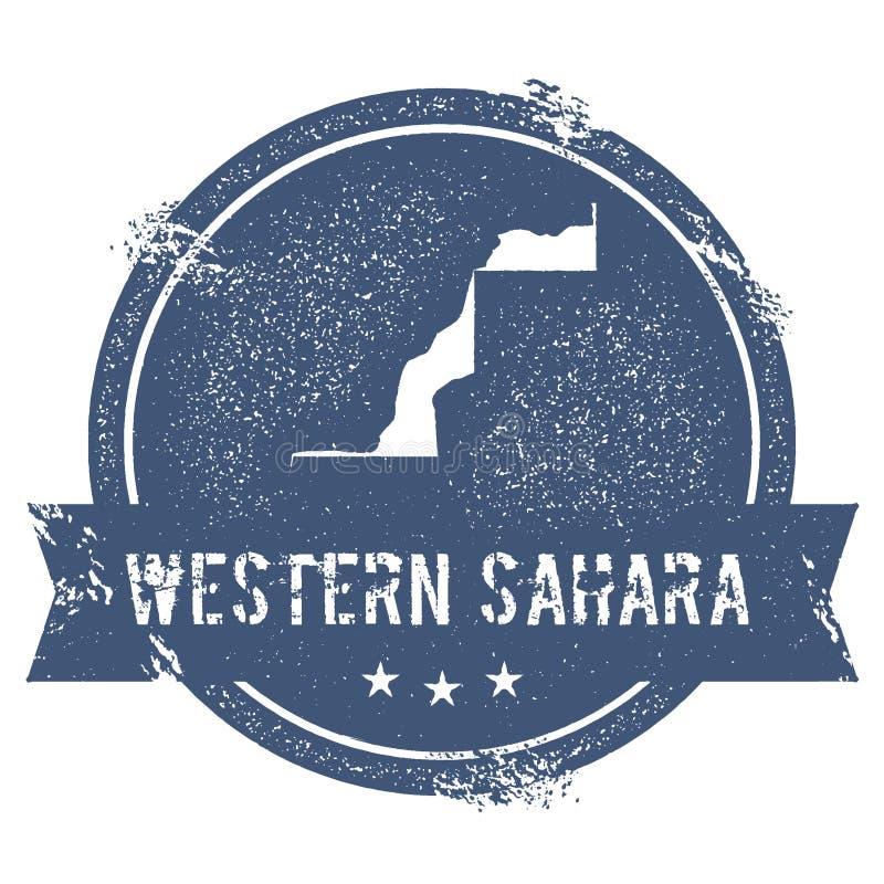 Marque de la Sahara occidental illustration de vecteur