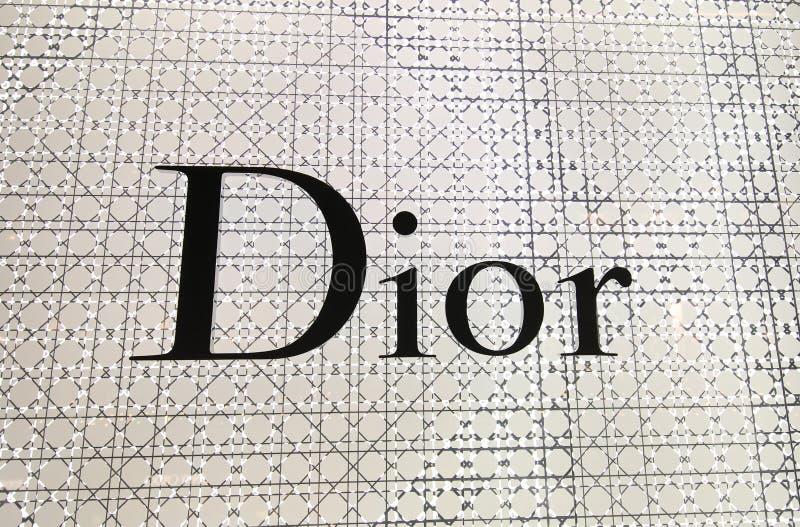 Marque de mode de Dior images libres de droits