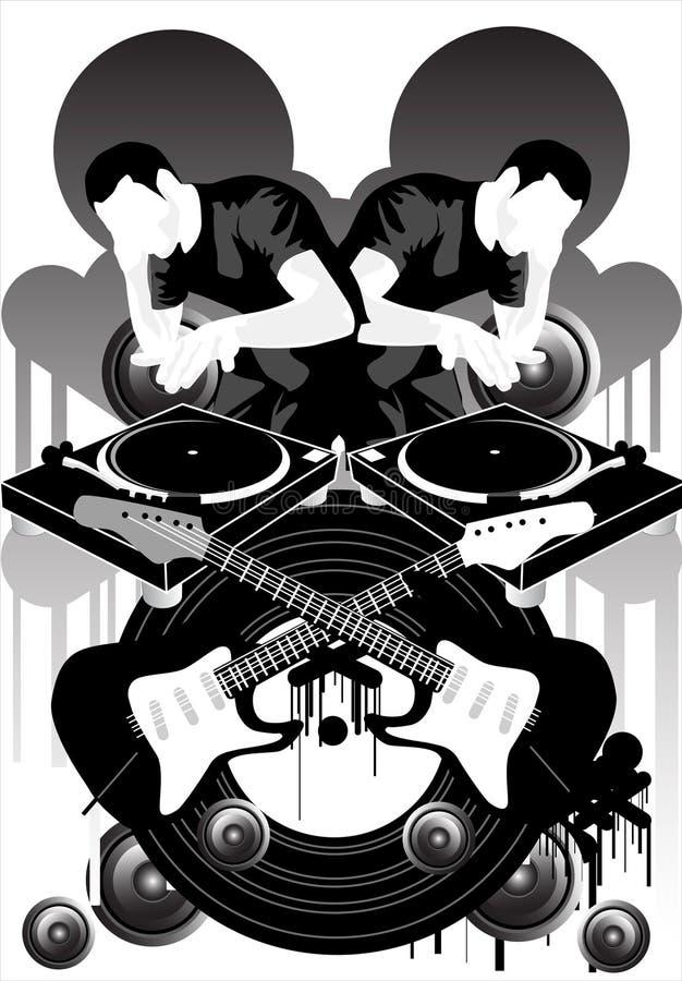 Marque X de musique illustration stock