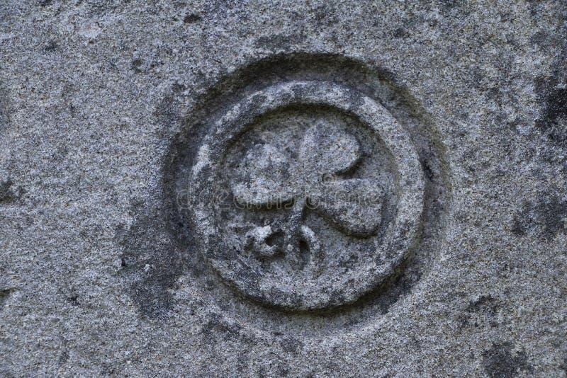 Marque de St Patrick sur la pierre, roche de Cashel, Co Tipperary photos stock