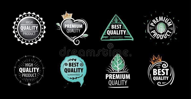 Marque de vecteur de la meilleure qualité du produit dessiné à la main illustration libre de droits