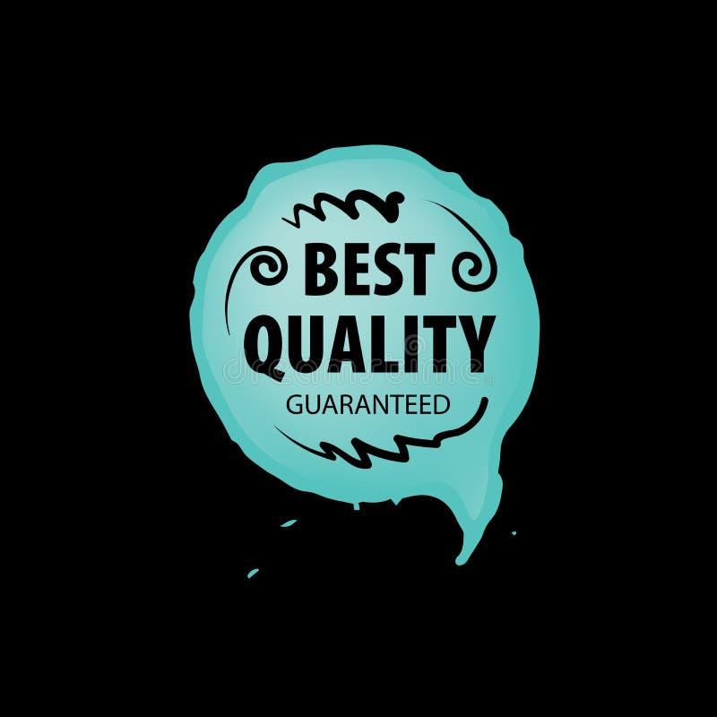 Marque de vecteur de la meilleure qualité du produit dessiné à la main illustration de vecteur