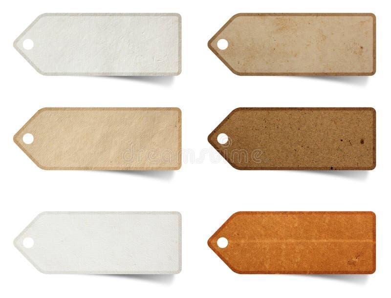 Marque el palillo del arte con etiqueta de papel fotografía de archivo