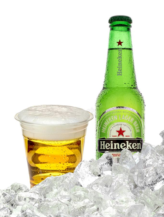 Marque globale de bi?re de Heineken photo stock