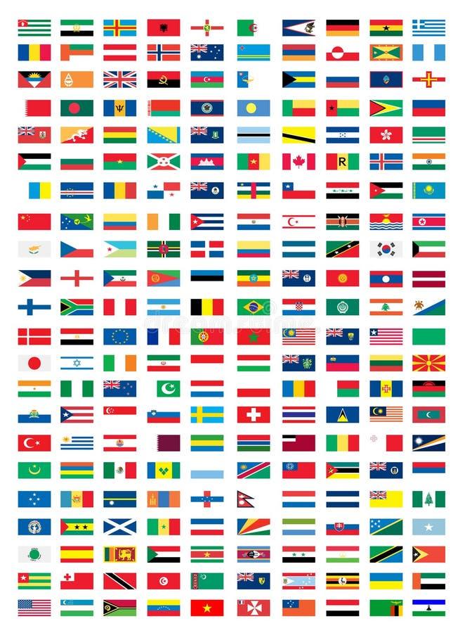 Drapeaux nationaux illustration de vecteur