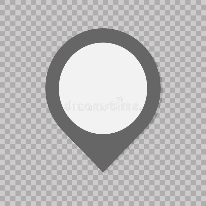 Marque o sinal do ponteiro Ícone liso do estilo no fundo transparente Estilo liso na moda para o projeto gráfico, site, UI ilustração stock