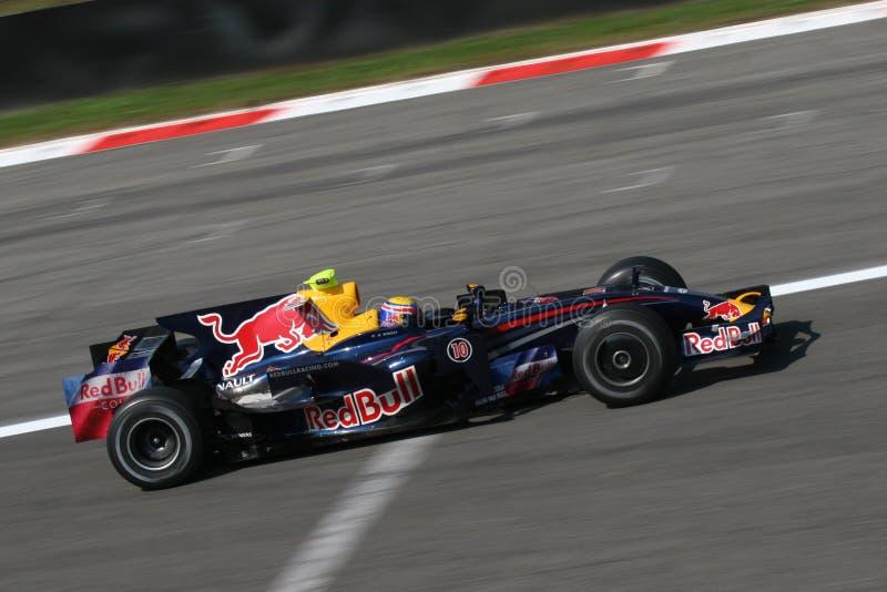 Marque o webber no F1 fotos de stock