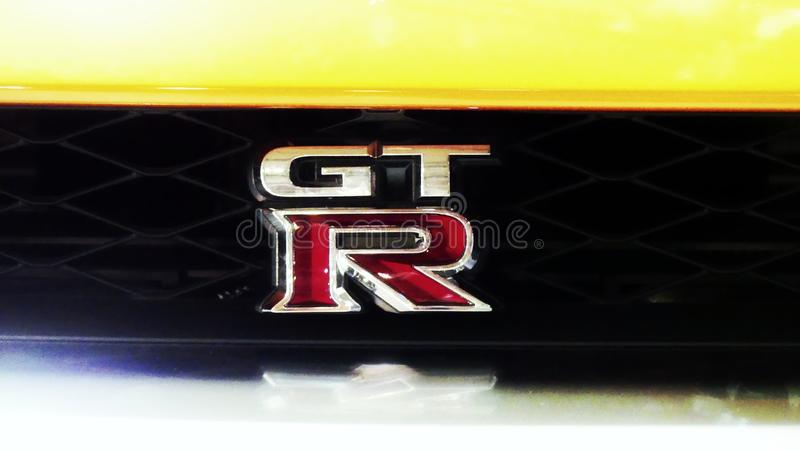 Marque orange gtr de Nissan photos stock