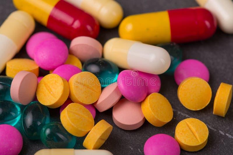 Marque sur tablette des pilules image stock