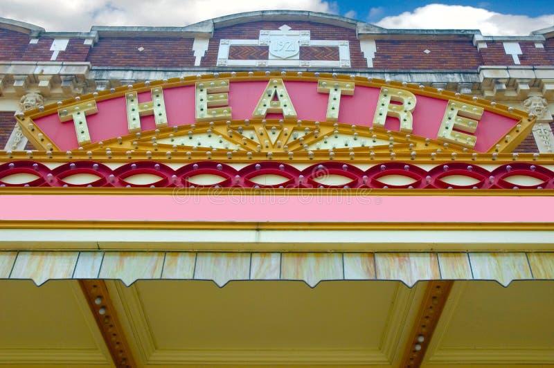 Marque velho do teatro. fotos de stock royalty free
