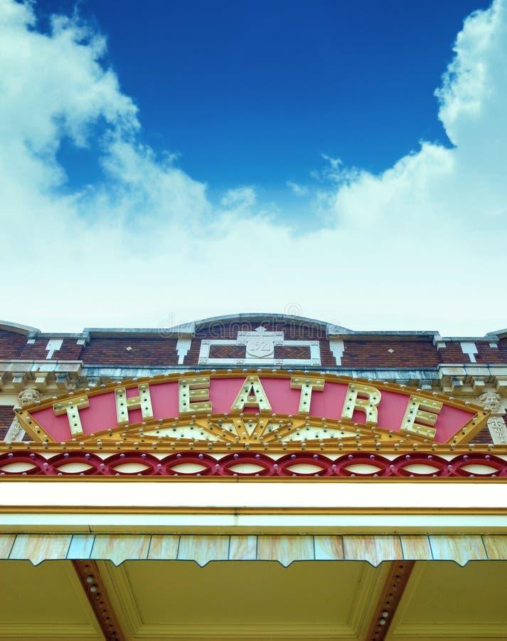 Marque velho do teatro. imagens de stock royalty free