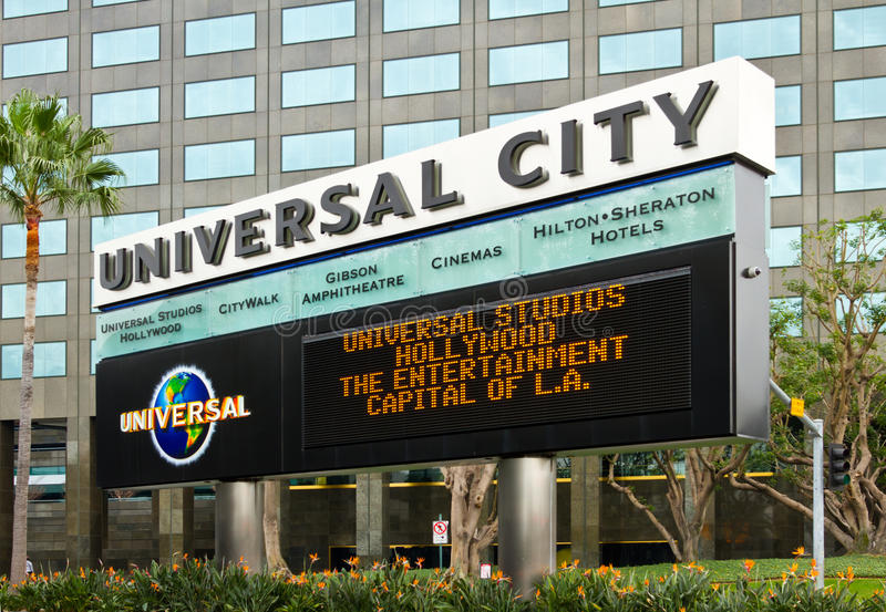 Download Marquee Board For Universal City Theme Park Editorial Stock Photo - Image: 23123723