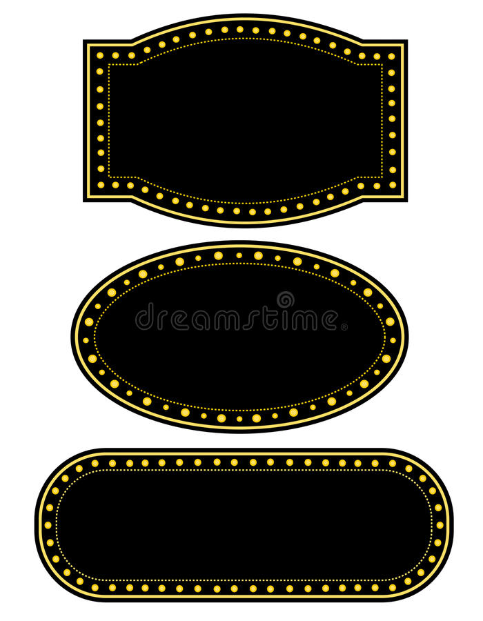 Marquee border vector illustration