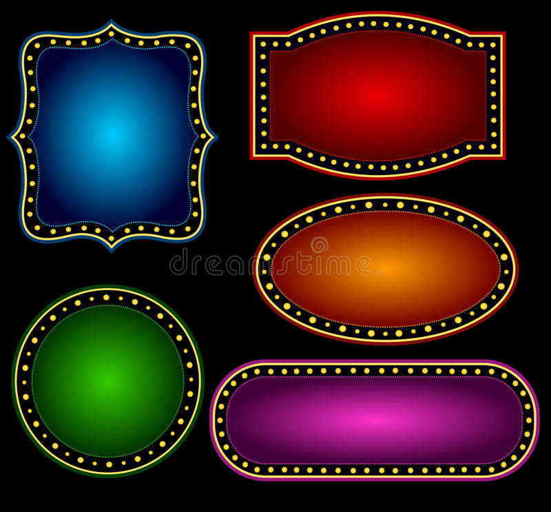 Free Marquee Border Royalty Free Stock Photos - 24252998