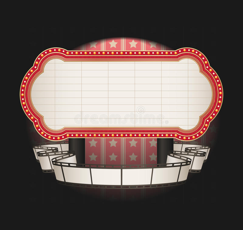 Download Marquee With Film Strip Banner Stock Illustration - Image: 11844994