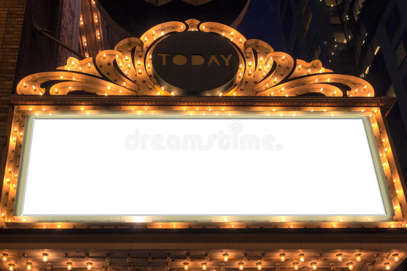 Marquee Lights Blank Sign royalty free stock images
