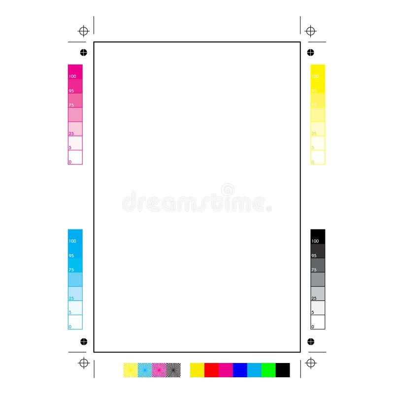Marques d'imprimante photos libres de droits