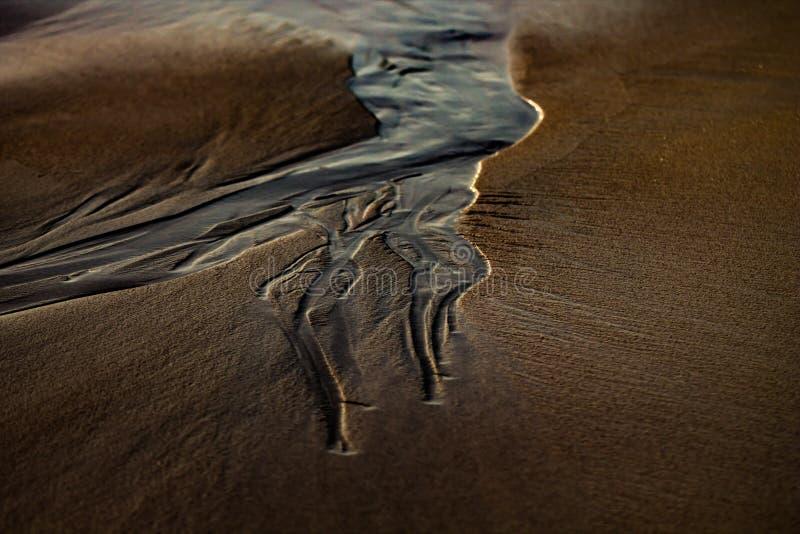 Marques dans le sable photos libres de droits