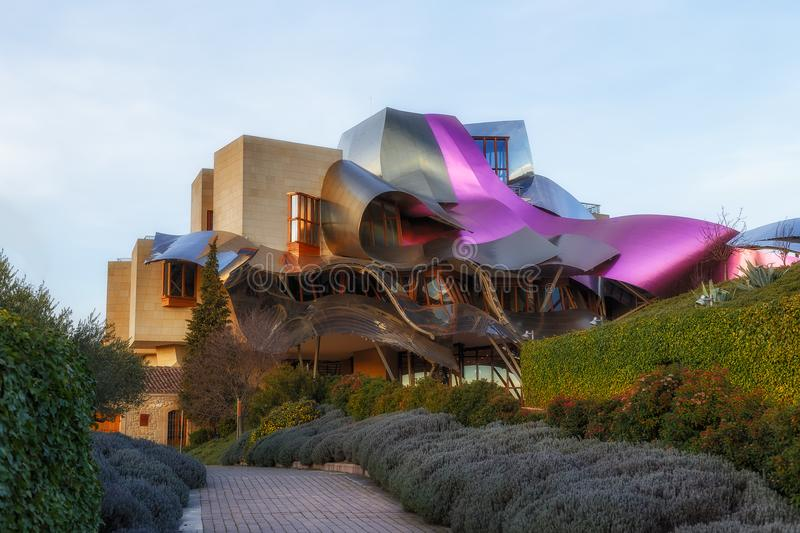 Marques de Riscal hotelo stock photography