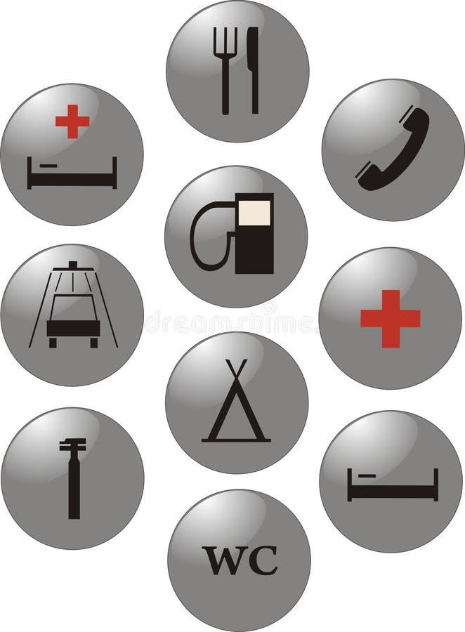 Marques de service. Graphismes de vecteur. image stock