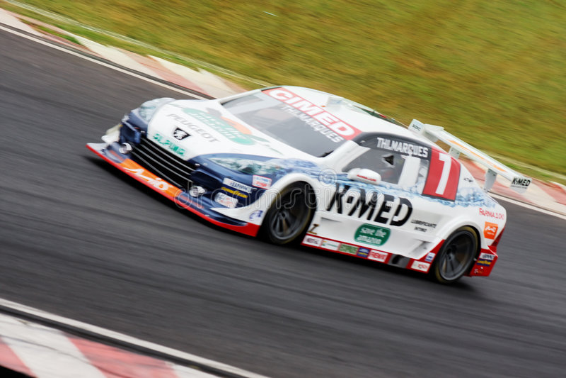 Marques Racing Stock Car Sao Paulo Brazil royalty free stock image
