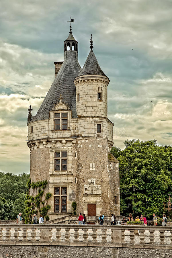 Download Marques Tower At The Castle Of Chenonceau In France Editorial Image - Image of normandy, king: 39512520