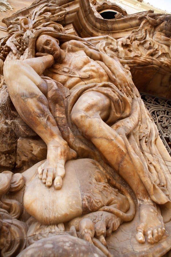 Marquesde DOS Aguas slott med den alabaster- fasaden Valencia royaltyfri foto