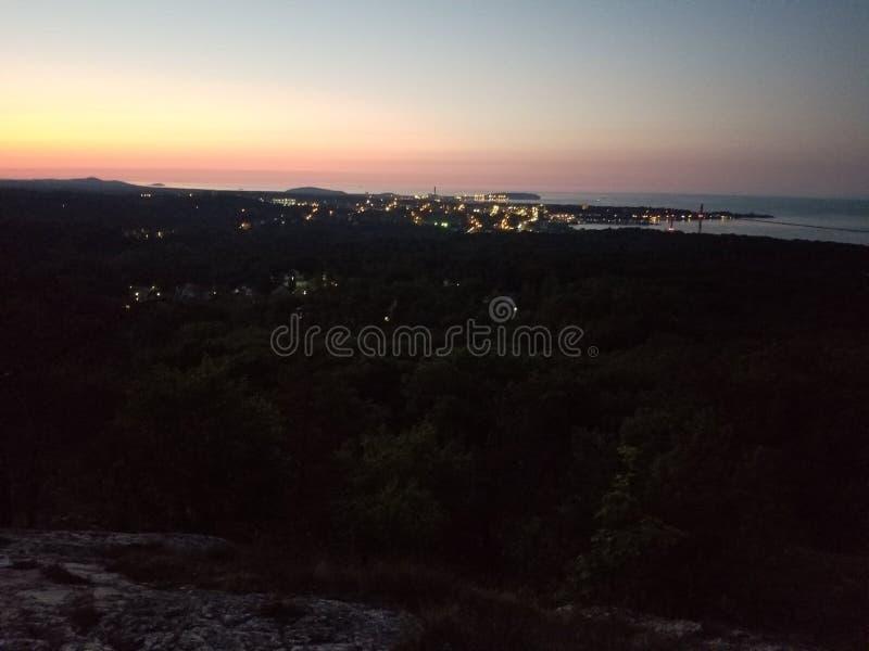 Marquette bergsikt royaltyfri foto