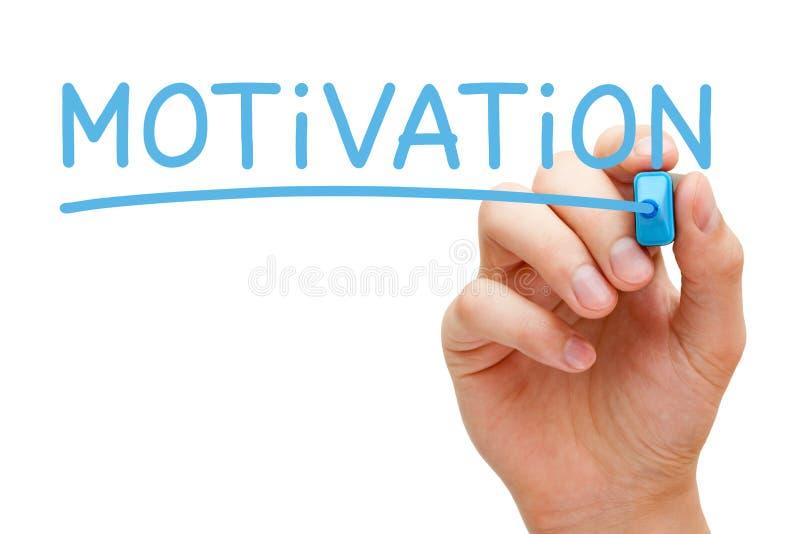 Marqueur de bleu de motivation photo stock
