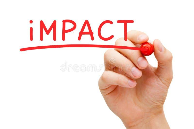 Marqueur de rouge d'impact photo stock