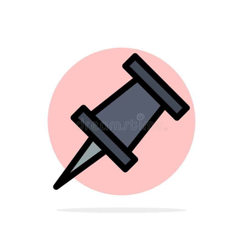 Marqueur, icône de couleur de Pin Abstract Circle Background Flat illustration de vecteur