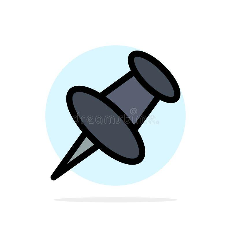 Marqueur, Pin, icône de couleur de Mark Abstract Circle Background Flat illustration libre de droits