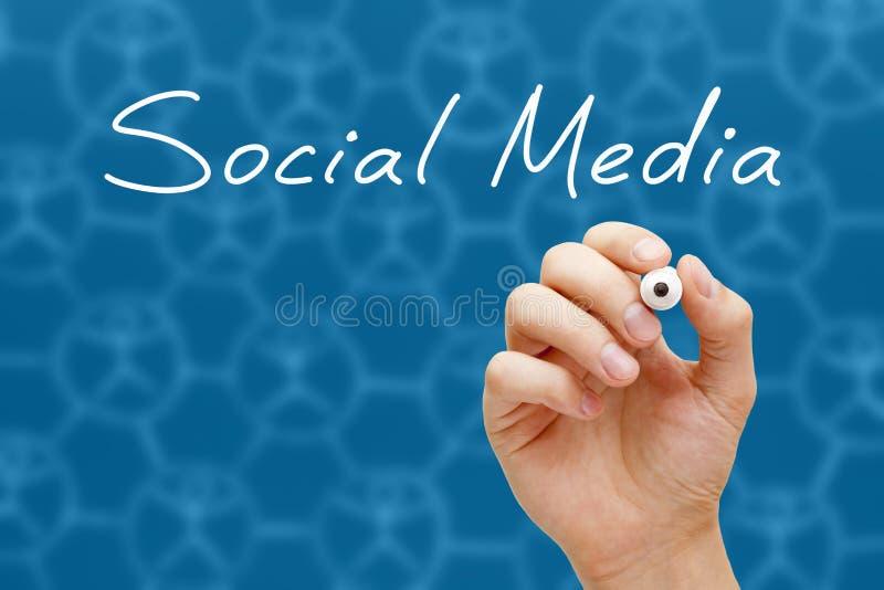 Marqueur social de blanc de concept de media photos stock