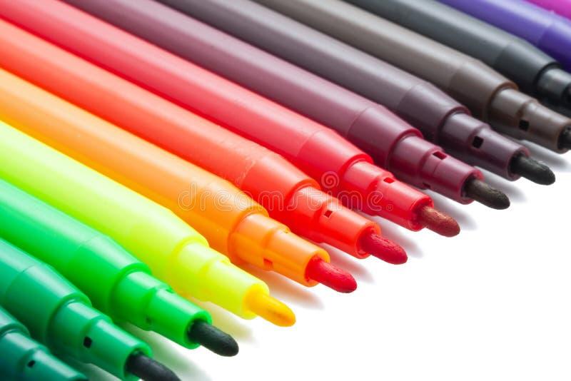 Marqueurs de couleur photos stock