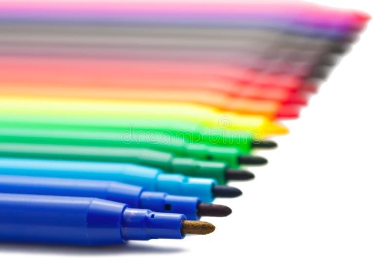 Marqueurs de couleur image libre de droits