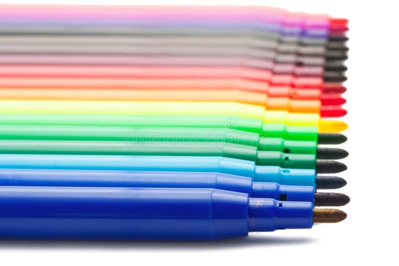 Marqueurs de couleur photo stock