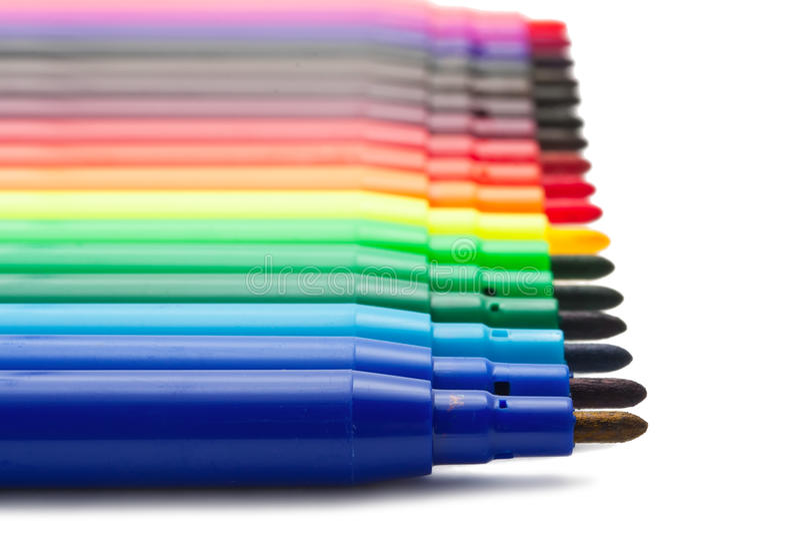 Marqueurs de couleur photos libres de droits