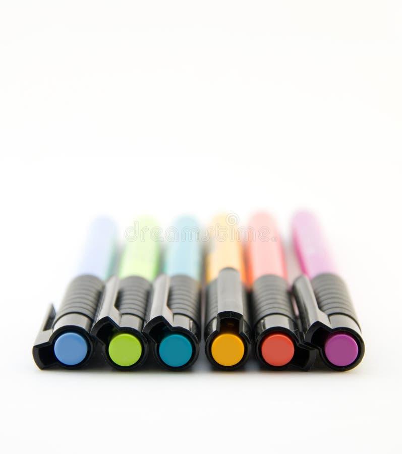Marqueurs de couleur d'arc-en-ciel photo libre de droits