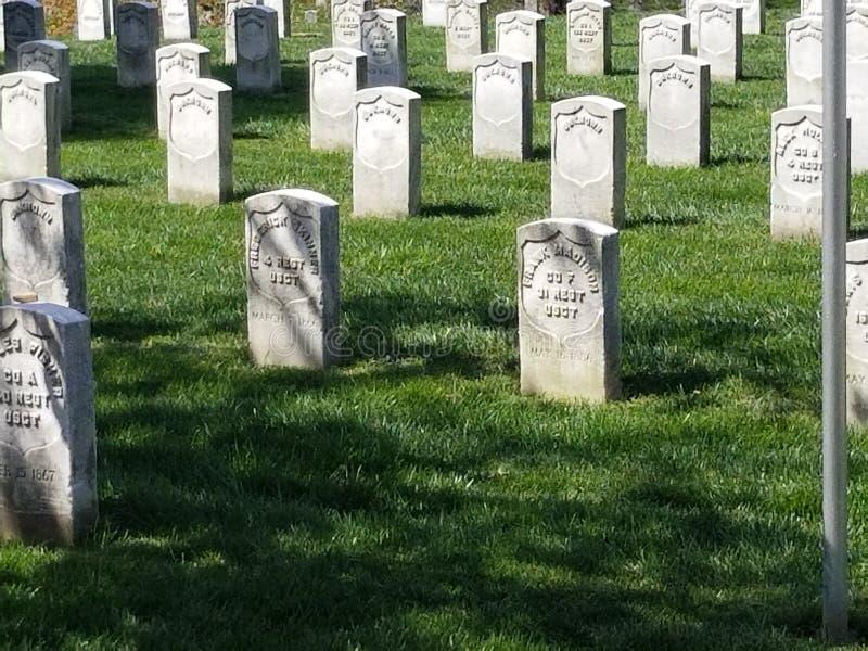 Marqueurs de tombe de guerre civile image stock