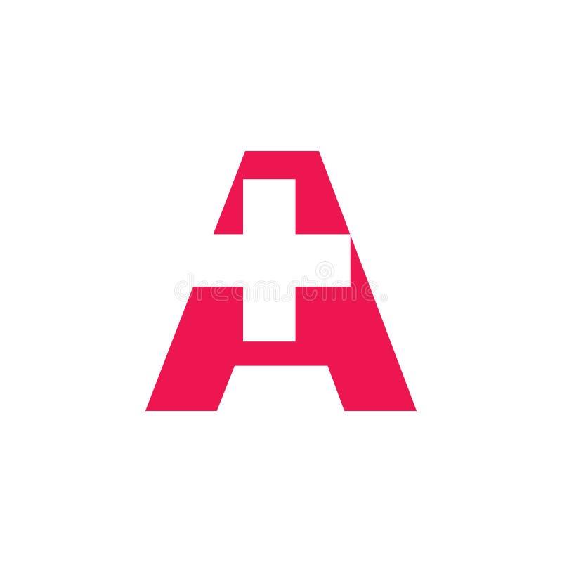 Marquez avec des lettres a plus le vecteur médical de logo illustration de vecteur