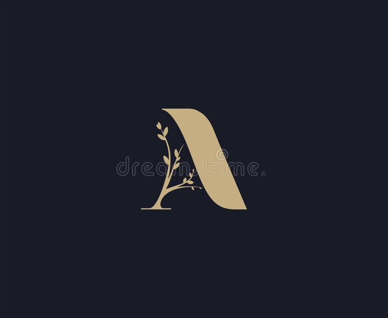 Marquez avec des lettres un logo Calibre de luxe de conception de logo Logo de lettrage photo stock