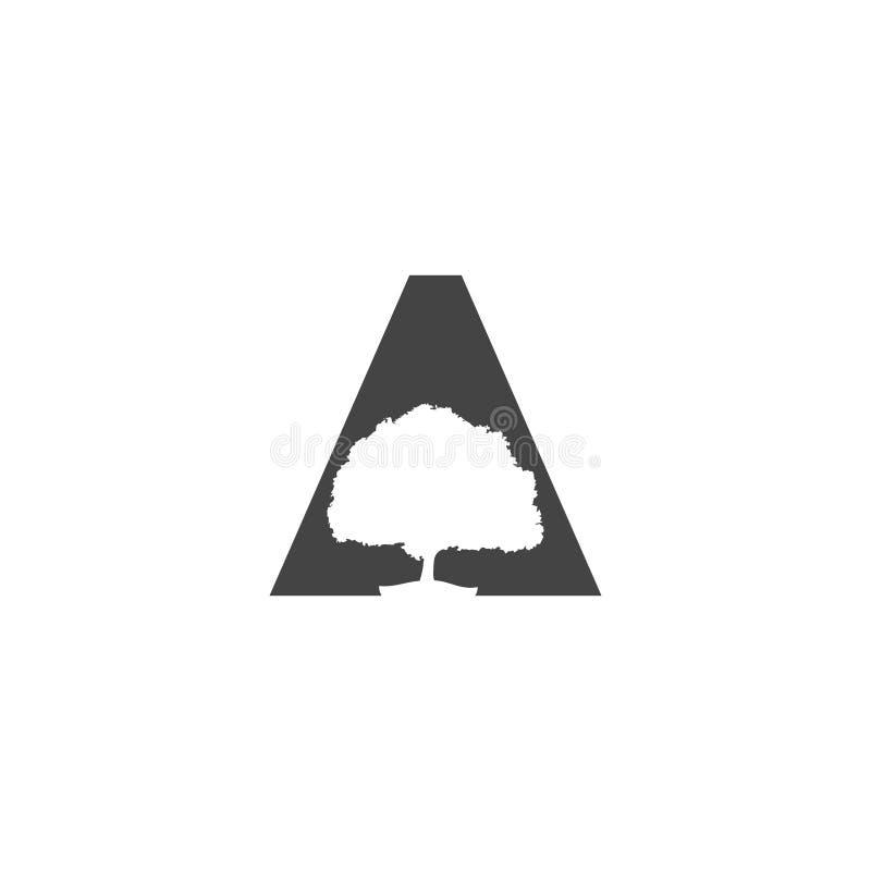 Marquez avec des lettres un logo Vecteur d'illustration d'arbre Logo de feuille images libres de droits