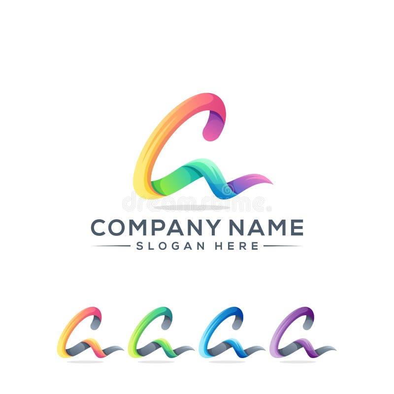 Marquez avec des lettres une conception de logo pour votre soci?t? illustration libre de droits